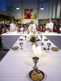 Maundy Thursday Eucharist Celebration in a Catholic Church, Paris, France, Europe Photographic Print