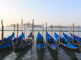 Gondolas on the Lagoon, San Giorgio Maggiore in the Distance, Venice, Veneto, Italy Photographic Print by Amanda Hall