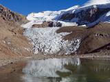 Glacier Near Plaza De Mulas Basecamp, Aconcagua Provincial Park, Andes Mountains, Argentina Photographic Print by Christian Kober