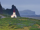 Church at Vik I Myrdal, Southern Iceland, Iceland, Polar Regions Photographic Print by Guy Edwardes