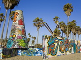Art Walls, Legal Graffiti, on Venice Beach, Los Angeles, California, USA Photographic Print by Richard Cummins