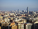 View From the Top of the Sagrada Familia, Barcelona, Catalonia, Spain, Europe Photographic Print by Mark Mawson