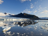 Fjallsarlon Glacial Lake, Vatnajokull Glacier, Iceland, Polar Regions Photographic Print by Guy Edwardes