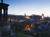 Edinburgh Cityscape at Dusk Towards Edinburgh Castle, Edinburgh, Lothian, Scotland, Uk Photographic Print by Amanda Hall
