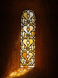 Stained Glass, Thoronet Abbey Church, Thoronet, Var, Provence, France, Europe Photographic Print