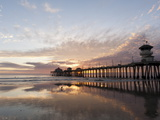 Huntington Beach Pier, California, United States of America, North America Lámina fotográfica por Sergio Pitamitz
