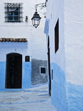 Painted Blue Street and Steps, Chefchaouen, Morocco, North Africa, Africa Photographic Print by Guy Edwardes