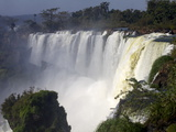 View of the Iguassu Falls From the Argentinian Side, Argentina, South America Photographic Print by Olivier Goujon