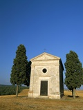 Vitaleta Chapel Near Pienza, Val D&#39;Orcia, Siena Province, Tuscany, Italy, Europe Photographic Print by Sergio Pitamitz