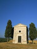 Vitaleta Chapel Near Pienza, Val D'Orcia, Siena Province, Tuscany, Italy, Europe Photographic Print by Sergio Pitamitz