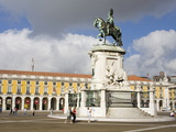 Statue of Dom Jose in Praca Do Comercio, Baixa District, Lisbon, Portugal, Europe Photographic Print by Richard Cummins