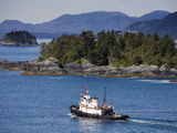 Tugboat in Sitka Sound, Baranof Island, Southeast Alaska, United States of America, North America Photographic Print by Richard Cummins
