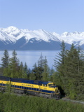 Alaska, järnväg när Girdwood, Alaska, USA, Nordamerika Fotoprint