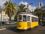 Tram in the Alfama District, Lisbon, Portugal, Europe Photographic Print by Richard Cummins