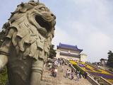 People at Mausoleum of Dr. Sun Yat Sen (Zhongshan Ling), Zijin Shan, Nanjing, Jiangsu, China, Asia Photographic Print by Ian Trower