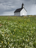 Strandakirkja Church Near Grindavik, Iceland, Polar Regions Photographic Print by Guy Edwardes