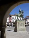 Statue of Francisco Pizarro, Plaza Mayor, Trujillo, Extremadura, Spain, Europe Photographic Print by Jeremy Lightfoot