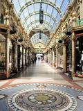 Interior of Cross Arcade, Leeds, West Yorkshire, England, Uk Photographic Print by Peter Richardson