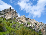 Crusader Castle of St. Hilarion, Turkish Part of Cyprus, Cyprus, Europe Impressão fotográfica por Michael Runkel