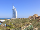Burj Al Arab Viewed From the Madinat Jumeirah Hotel, Jumeirah Beach, Dubai, Uae Photographic Print by Amanda Hall