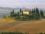 Sunrise Near San Quirico D'Orcia, Val D'Orcia, Siena Province, Tuscany, Italy, Europe Photographic Print by Sergio Pitamitz