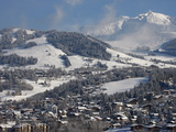Megeve Village in Winter, Megeve, Haute Savoie, French Alps, France, Europe Photographic Print