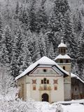 Notre Dame De La Gorge Church, Les Contamines, Haute Savoie, France, Europe Photographic Print