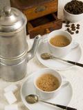 Neapolitan Coffee, Neapolitan Coffee Machine and Coffee Grinder, Naples, Campania, Italy, Europe Photographic Print