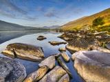 Early Morning at Llynau Mymbyr, Snowdonia National Park, Wales, Uk Photographic Print by David Wogan