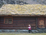 Sod-Roofed Home in Flam, Norway, Scandinavia, Europe Photographic Print by Kim Walker