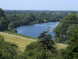 View Over the Thames From Richmond Hill, Richmond, Surrey, England, Uk Photographic Print