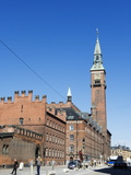 Radhus (City Hall) Clock Tower, Copenhagen, Denmark, Scandinavia, Europe Photographic Print by Christian Kober