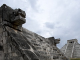 Venus Platform With Kukulkan Pyramid in the Background, Chichen Itza, Yucatan, Mexico Photographic Print by Balan Madhavan