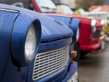 The Old Trabant Automobiles, Produced in the Former East Germany, Berlin, Germany, Europe Photographie par Carlo Morucchio