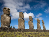 Ahu Akivi, Rapa Nui (Easter Island), UNESCO World Heritage Site, Chile, South America Photographic Print by Sergio Pitamitz