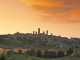 San Gimignano at Sunset, Siena Province, Tuscany, Italy, Europe Photographic Print by Sergio Pitamitz
