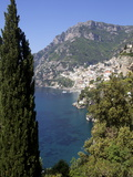 The Bay and the Village of Positano on the Amalfi Coast, Campania, Italy, Europe Photographic Print by Olivier Goujon