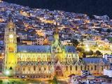 Gothic Basilica Del Voto Nacional, Old Town, UNESCO World Heritage Site, Quito, Ecuador Fotografie-Druck von Christian Kober