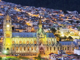 Gothic Basilica Del Voto Nacional, Old Town, UNESCO World Heritage Site, Quito, Ecuador Photographic Print by Christian Kober