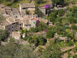 Looking Down on Village Houses, Deia, Majorca, Balearic Islands, Spain, Europe Photographic Print by John Miller