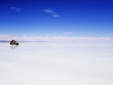 Four Wheel Drive (4Wd) Tour Group on Salir De Uyuni, Salt Flats, Bolivia, South America Photographic Print by Christian Kober