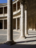 Palace of Charles V, Alhambra Palace, UNESCO World Heritage Site, Granada, Andalucia, Spain, Europe Photographic Print by Jeremy Lightfoot