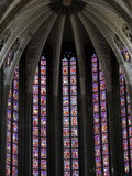 Stained Glass in Sainte-Croix (Holy Cross) Cathedral, Orleans, Loiret, France, Europe Photographic Print