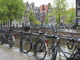 Bicycle, Brouwersgracht, Amsterdam, Netherlands, Europe Photographic Print by Amanda Hall