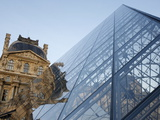 Pyramid Designed By Leoh Ming Pei, Louvre Museum, Paris, France, Europe Photographic Print