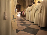 Easter Wednesday Celebration in Notre Dame Cathedral, Paris, France, Europe Photographic Print