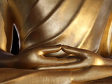Detail of a Large Buddha Statue, Paris, France, Europe Photographic Print