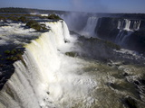 View Over the Iguassu Falls From the Brazilian Side, Brazil, South America Photographic Print by Olivier Goujon