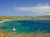 View From Pigeon Point Down to Rodney Bay, St. Lucia, Windward Islands, West Indies, Caribbean Photographic Print