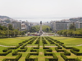 The Greenery of the Parque Eduard VII Runs Towards the Marques De Pombal Memorial in Central Lisbon Photographic Print by Stuart Forster